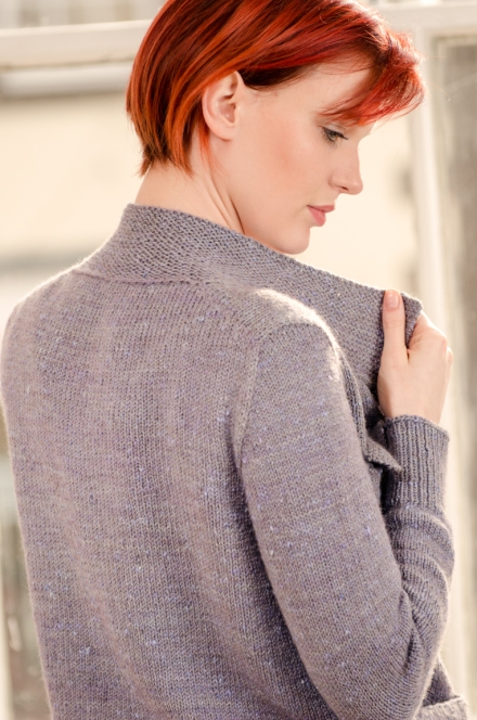 Zen Variations Kaizen cardigan Knitting pattern by Renée Callahan-29